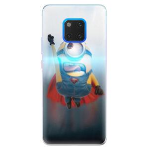 Silikónové puzdro iSaprio - Mimons Superman 02 - Huawei Mate 20 Pro