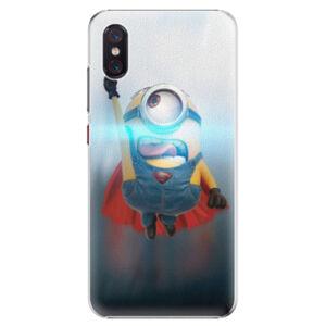 Plastové puzdro iSaprio - Mimons Superman 02 - Xiaomi Mi 8 Pro
