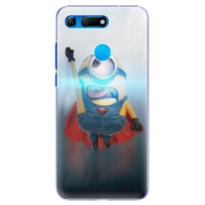 Plastové puzdro iSaprio - Mimons Superman 02 - Huawei Honor View 20