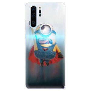 Odolné silikonové pouzdro iSaprio - Mimons Superman 02 - Huawei P30 Pro