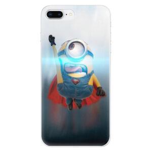 Odolné silikónové puzdro iSaprio - Mimons Superman 02 - iPhone 8 Plus