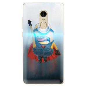 Odolné silikónové puzdro iSaprio - Mimons Superman 02 - Xiaomi Redmi Note 4