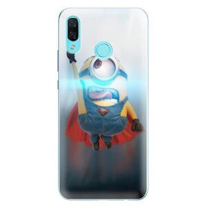 Odolné silikónové puzdro iSaprio - Mimons Superman 02 - Huawei Nova 3