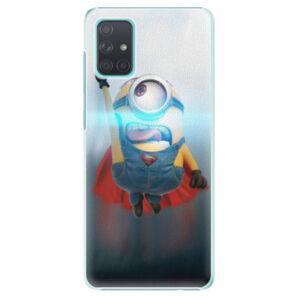 Plastové puzdro iSaprio - Mimons Superman 02 - Samsung Galaxy A71