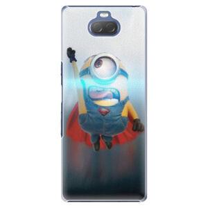 Plastové puzdro iSaprio - Mimons Superman 02 - Sony Xperia 10