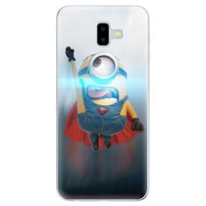 Odolné silikónové puzdro iSaprio - Mimons Superman 02 - Samsung Galaxy J6+