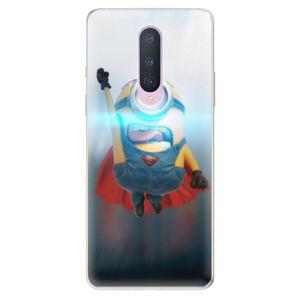 Odolné silikónové puzdro iSaprio - Mimons Superman 02 - OnePlus 8