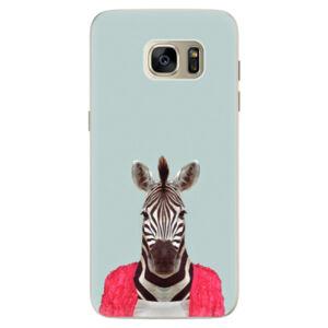 Silikónové puzdro iSaprio - Zebra 01 - Samsung Galaxy S7 Edge