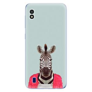 Odolné silikónové puzdro iSaprio - Zebra 01 - Samsung Galaxy A10