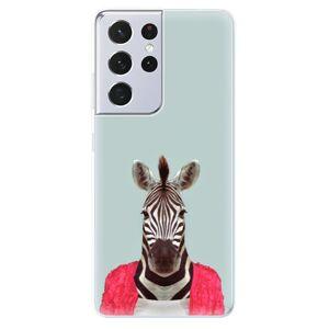 Odolné silikónové puzdro iSaprio - Zebra 01 - Samsung Galaxy S21 Ultra