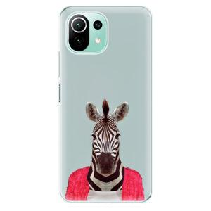 Odolné silikónové puzdro iSaprio - Zebra 01 - Xiaomi Mi 11 Lite
