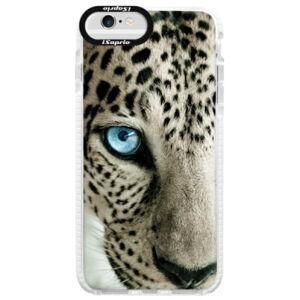 Silikónové púzdro Bumper iSaprio - White Panther - iPhone 6 Plus/6S Plus