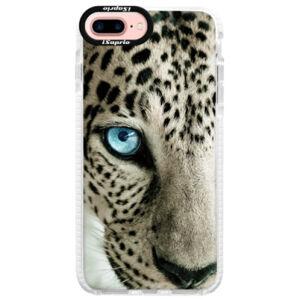 Silikónové púzdro Bumper iSaprio - White Panther - iPhone 7 Plus