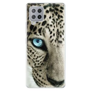 Odolné silikónové puzdro iSaprio - White Panther - Samsung Galaxy A42