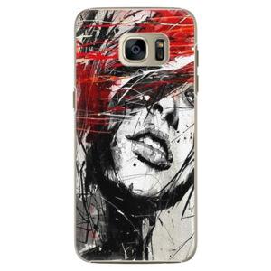Plastové puzdro iSaprio - Sketch Face - Samsung Galaxy S7 Edge