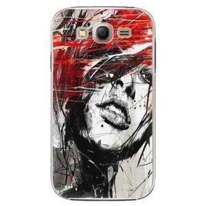 Plastové puzdro iSaprio - Sketch Face - Samsung Galaxy Grand Neo Plus