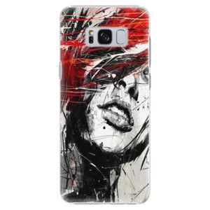 Plastové puzdro iSaprio - Sketch Face - Samsung Galaxy S8
