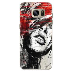Silikónové puzdro iSaprio - Sketch Face - Samsung Galaxy S7
