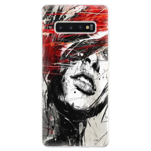 Odolné silikonové pouzdro iSaprio - Sketch Face - Samsung Galaxy S10+