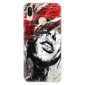 Odolné silikónové puzdro iSaprio - Sketch Face - Huawei P20 Lite