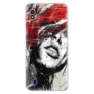 Odolné silikónové puzdro iSaprio - Sketch Face - Samsung Galaxy A10