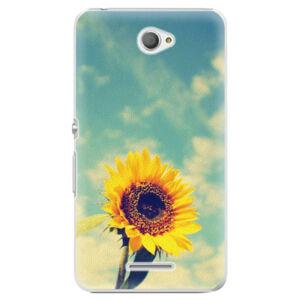Plastové puzdro iSaprio - Sunflower 01 - Sony Xperia E4