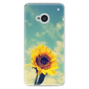 Plastové puzdro iSaprio - Sunflower 01 - HTC One M7