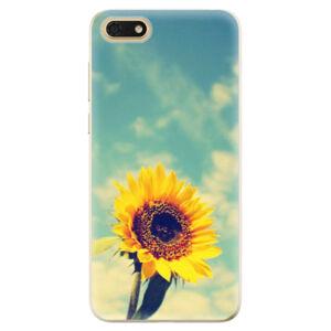 Odolné silikónové puzdro iSaprio - Sunflower 01 - Huawei Honor 7S
