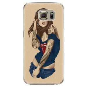 Plastové puzdro iSaprio - Girl 03 - Samsung Galaxy S6 Edge