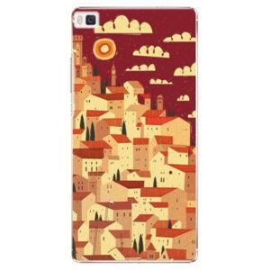 Plastové puzdro iSaprio - Mountain City - Huawei Ascend P8