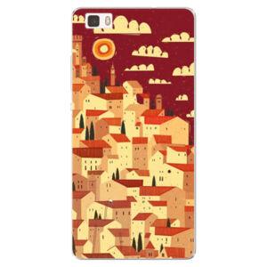 Silikónové puzdro iSaprio - Mountain City - Huawei Ascend P8 Lite