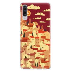 Plastové puzdro iSaprio - Mountain City - Samsung Galaxy A70