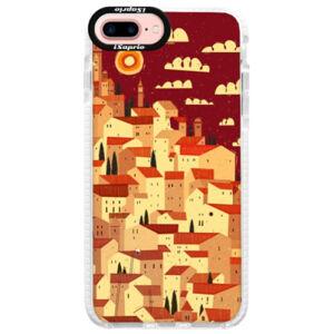 Silikónové púzdro Bumper iSaprio - Mountain City - iPhone 7 Plus