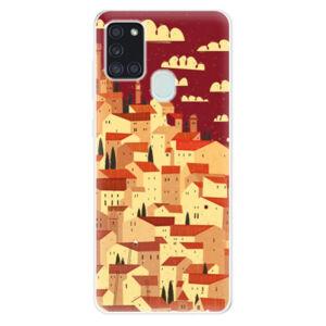 Odolné silikónové puzdro iSaprio - Mountain City - Samsung Galaxy A21s