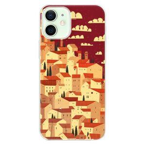 Odolné silikónové puzdro iSaprio - Mountain City - iPhone 12