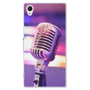 Plastové puzdro iSaprio - Vintage Microphone - Sony Xperia Z1