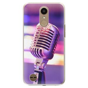 Plastové puzdro iSaprio - Vintage Microphone - LG K10 2017