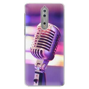 Plastové puzdro iSaprio - Vintage Microphone - Nokia 8