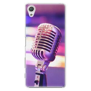 Plastové puzdro iSaprio - Vintage Microphone - Sony Xperia X
