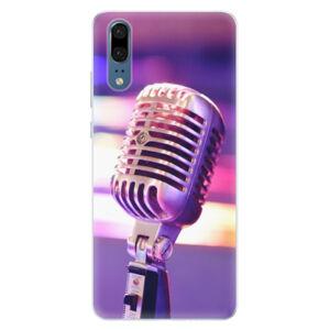 Silikónové puzdro iSaprio - Vintage Microphone - Huawei P20