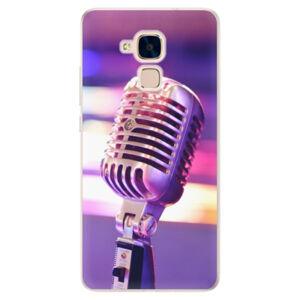 Silikónové puzdro iSaprio - Vintage Microphone - Huawei Honor 7 Lite