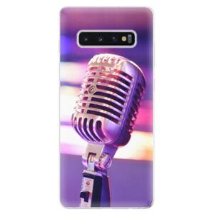 Odolné silikonové pouzdro iSaprio - Vintage Microphone - Samsung Galaxy S10+