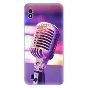 Odolné silikónové puzdro iSaprio - Vintage Microphone - Samsung Galaxy A10