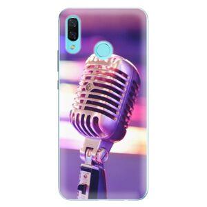 Odolné silikónové puzdro iSaprio - Vintage Microphone - Huawei Nova 3