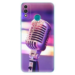 Odolné silikónové puzdro iSaprio - Vintage Microphone - Honor 9X Lite