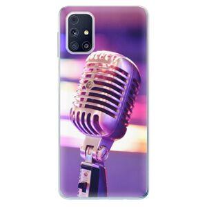 Odolné silikónové puzdro iSaprio - Vintage Microphone - Samsung Galaxy M31s