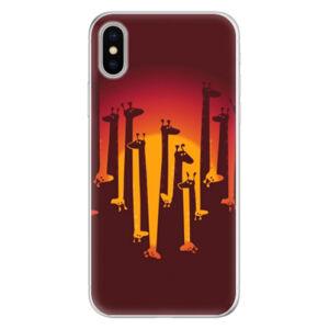 Silikónové puzdro iSaprio - Giraffe 01 - iPhone X