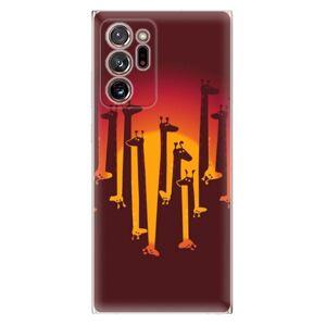 Odolné silikónové puzdro iSaprio - Giraffe 01 - Samsung Galaxy Note 20 Ultra