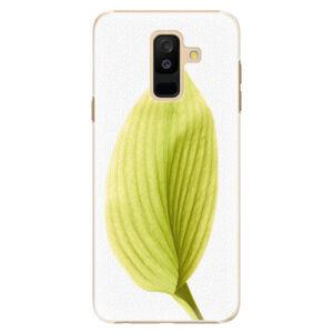 Plastové puzdro iSaprio - Green Leaf - Samsung Galaxy A6+