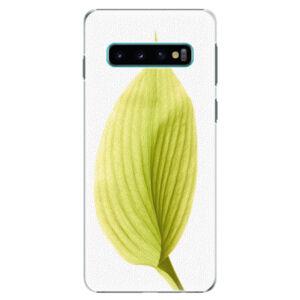 Plastové puzdro iSaprio - Green Leaf - Samsung Galaxy S10